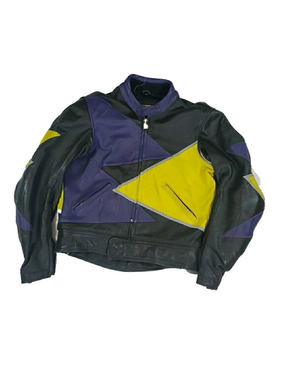 Vintage hein gericke leather padded biker jacket s