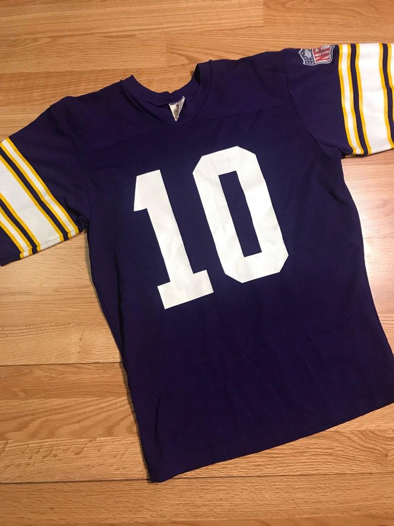 new style 287fb 4f2a2 Vintage Minnesota Vikings Fran Tarkenton jersey size medium