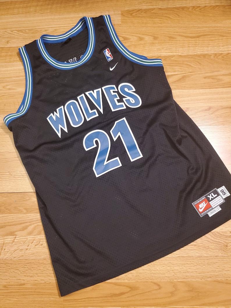 pretty nice 4b175 cb70b Nike minnesota timberwolves kevin garnett throwback Jersey size xl