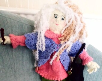 Hand-knitted Luna Lovegood