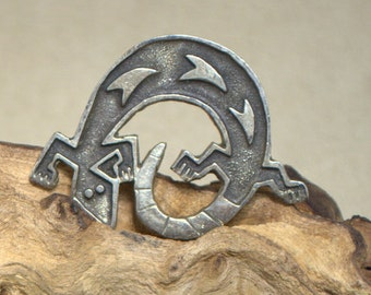 Sterling Silver Lizard Pin/Pendant