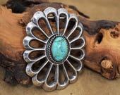 Navajo Sterling Silver Concho Belt Buckle