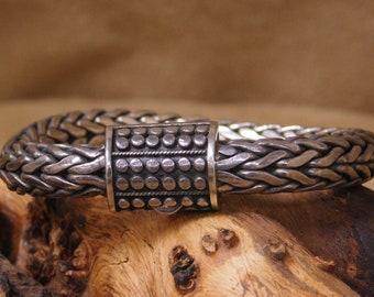 Vintage Braided Sterling Silver Bracelet