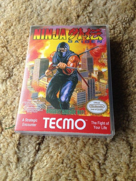 Nintendo Nes Ninja Gaiden Cib With Custom Case Original Etsy