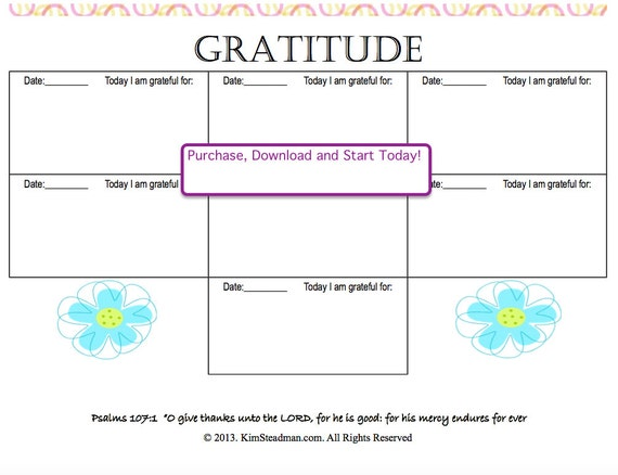 Attitude of Gratitude Journal Scriptures Bible Study All Ages