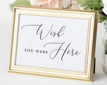 Wish You Were Here Wedding Memorial Sign or Remembrance Sign for Weddings Clear Acrylic Wedding Sign