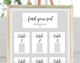 rustic seating chart etsy