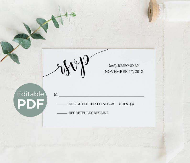graphic about Printable Rsvp Card referred to as Wedding ceremony RSVP Playing cards Template, Printable Rsvp Playing cards Rustic, Editable Wedding day Answer Playing cards, Do it yourself Marriage RSVP Remedy Playing cards, Rsvp Include Card Pdf