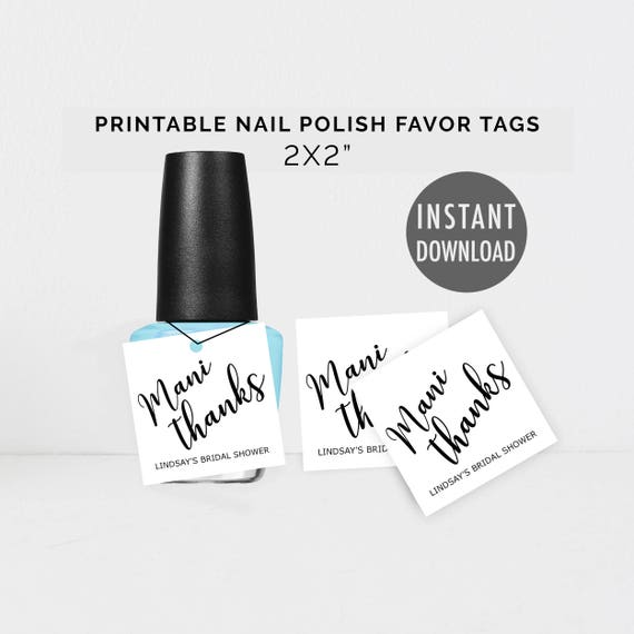 graphic relating to Mani Thanks Free Printable identify Printable Nail Polish Prefer Tags, Do it yourself Nail Want Tags
