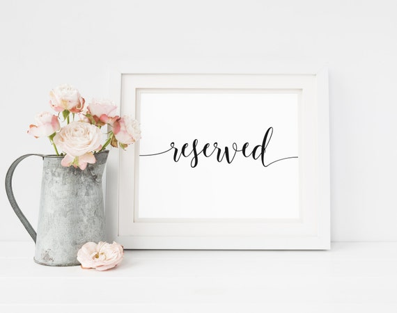 graphic regarding Printable Reserved Signs for Wedding named Printable Reserved Indication, Reserved Desk Indicator, Reserved Symptoms, Marriage ceremony Reserved, Reserved Seat Signal, Rustic Rite Indication, Very simple Wedding ceremony
