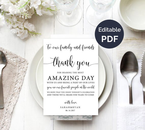 Wedding thank you note template wedding table thank you etsy image 0 maxwellsz