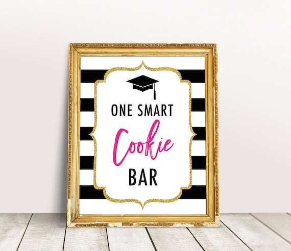 photograph regarding One Smart Cookie Printable named 1 Clever Cookie Printable, Cl of 2019 Commencement Signal