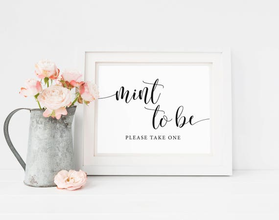 Wedding Mints Bridal Shower Mints Mint To Be Wedding Favors