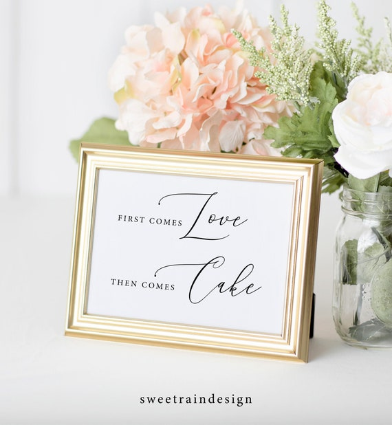 Cake Table Sign Eat Cake Eat Cake Sign Reception Sign Cake Sign Wedding Cake Sign Wedding Cake Table Wedding Sign Let Them Eat Cake