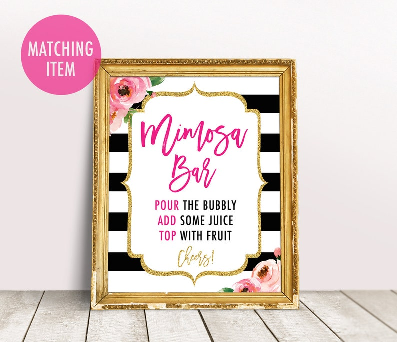 Floral Table Number Template, DIY Table Numbers, Kate Party Table Numbers  Wedding Table Number Stripes Table Card Editable Template 4x6, 5x7