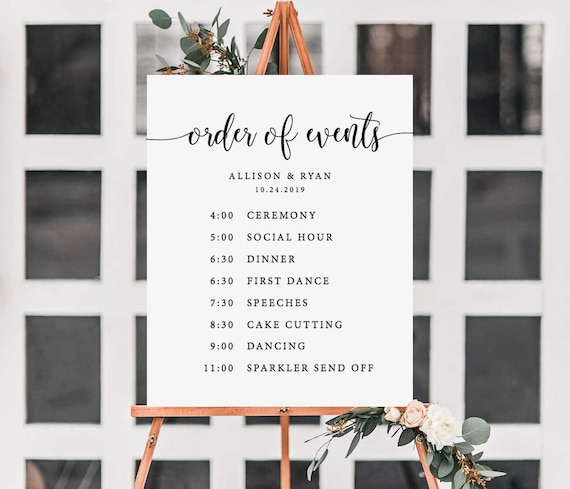 Day Of Wedding Itinerary Template from i.etsystatic.com