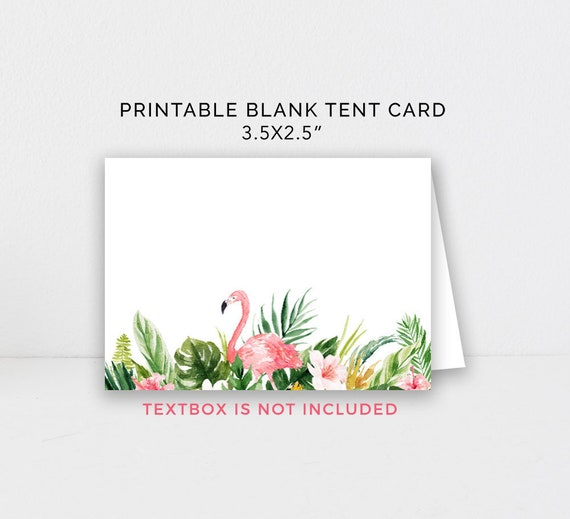 photo regarding Printable Tent Card identify Flamingo Food items Tent Playing cards Printable, Blank Tent Playing cards, Buffet