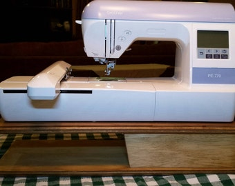 Embroidery Machine Riser for machines the size of a Brother PE 770 and smaller models.