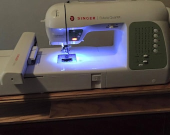 Riser for Embroidery machines the size of  Singer's Futura Quartet
