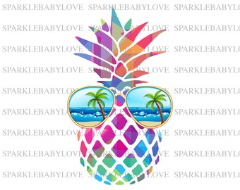 afbf4a1c7332 Summer Pineapple, DIY iron on,Sublimation transfer, Ready to Press, Iron on  Ready, Iron on Transfer