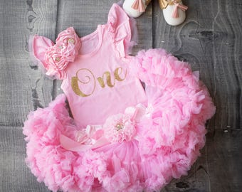 First Birthday Outfit Girl 1st One Year Old Girls