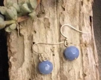 Earrings~Drop~Powder Blue~Gemstones~Holiday Gifts