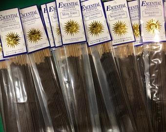 "Escential Essences, New Scents Added, Premium Stick Incense, Choose Your Scent, 16 Sticks per pkg, 10"" Sticks"