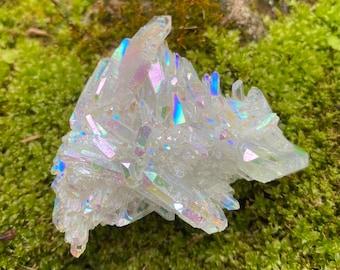 Opal Aura Cluster, Multi-Terminated, Time-Link, Arkansas, 42.10 Grams, CR8464