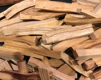 "1/4 Pound, 4 Ounces, PALO SANTO Sticks, Sustainable, Peru, 4"" + Average Stick Length, 2-3 Sticks = 1 Ounce"