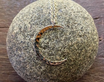 Crescent Moon Pendant, Sterling Silver, Includes Rolo Chain, LS8992