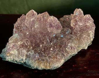 2/3 LB Amethyst Plate Cluster, Natural, 293.50 Grams, Uruguay, CR8970