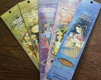 "Prabhuji Premium Stick Incense, *Shop Favorite For Meditation* Choose Your Scent, 10"" Sticks x 10 Sticks Per Pack"