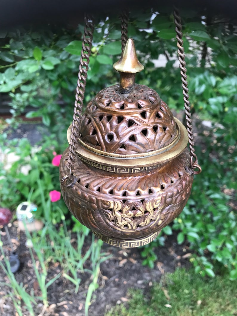 "<Span Data Inner Title="""">Tibetan Hanging Censer Kit, Bronze, Antique Style, Complete Incense Burner Kit With Handmade Incense Or Resin, Sand, Charcoal, Holder</Span> by Etsy"