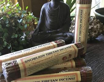 "Tibetan Incense, Snow Lion, Lord Buddha, Sandal and Jasmine, 55 Himalayan Herbs, Resins, & Spices, 40 Sticks, 6.75"" Each Stick, CHOOSE"