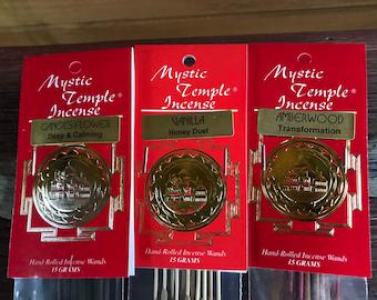"""Mystic Temple Premium Incense, Stick Incense, Shop Favorite! Choose Your Scent, 10"""" Sticks, 15 or 100 Gram Pkgs"""