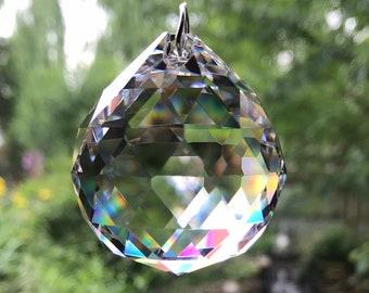 Crystal Prism, 40 mm, Faceted Sphere, CR5527