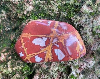 Noreena, Picture Jasper, Polished Palm Stone, Western Australia, 74.60 Grams, CR9314