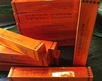 """Tara Healing Incense, Organic Herbs, Resins, & Spices, Box of 20 sticks, 5.5"""" Each"""