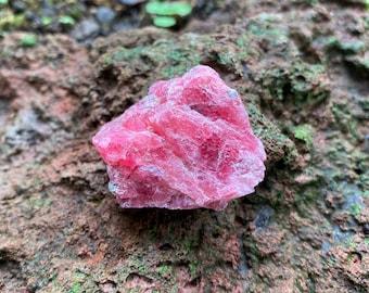 Rhodonite, Raw, Etched Pocket Stone, Loving Energies, Brazil, 24.80 Grams, CR9313