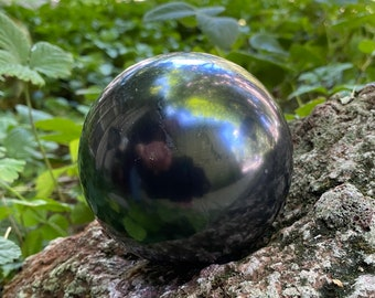 1-2/3 LBS- Shungite Sphere, Russia, 85mm, Display Stand Included, Russia, CR9134