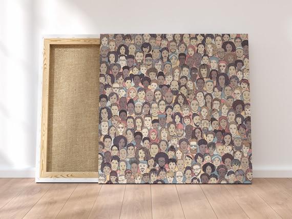 Diverse Faces Art Print Home Decor Wall Art Poster E