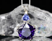 Amethyst Star of Venus Pendant with Tanzanite Signature Collection - RARE - .925 Sterling Silver Synergy 12 Stone