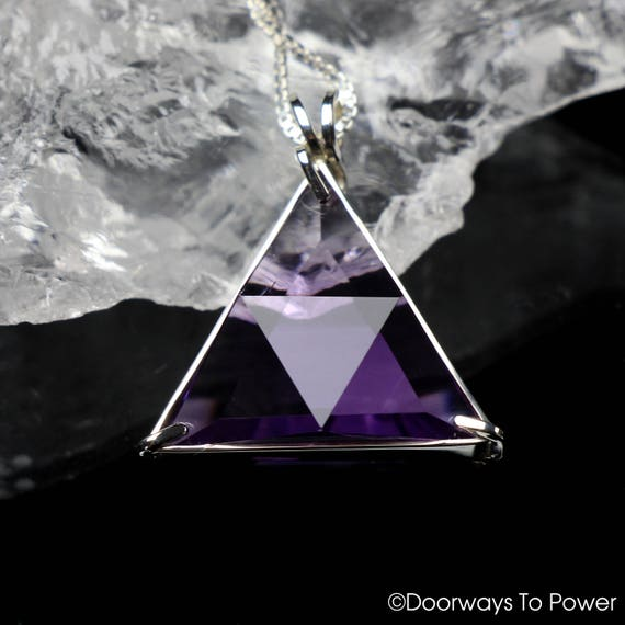 USA Seller Triangle Pendant Sterling Silver 925 Best Deal Jewelry Amethyst