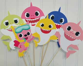 Baby Shark Doo Centerpiece Party Birthday First Decor