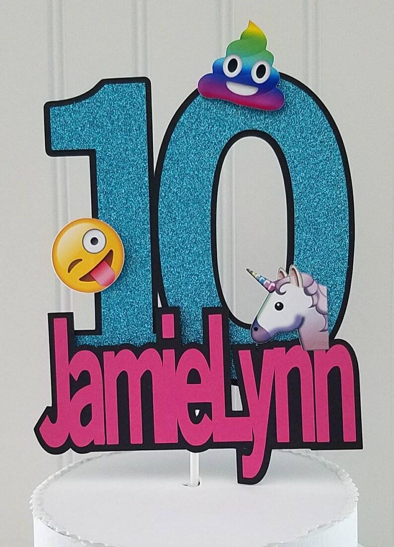 Rainbow Poop Emoji Cake Topper Unicorn