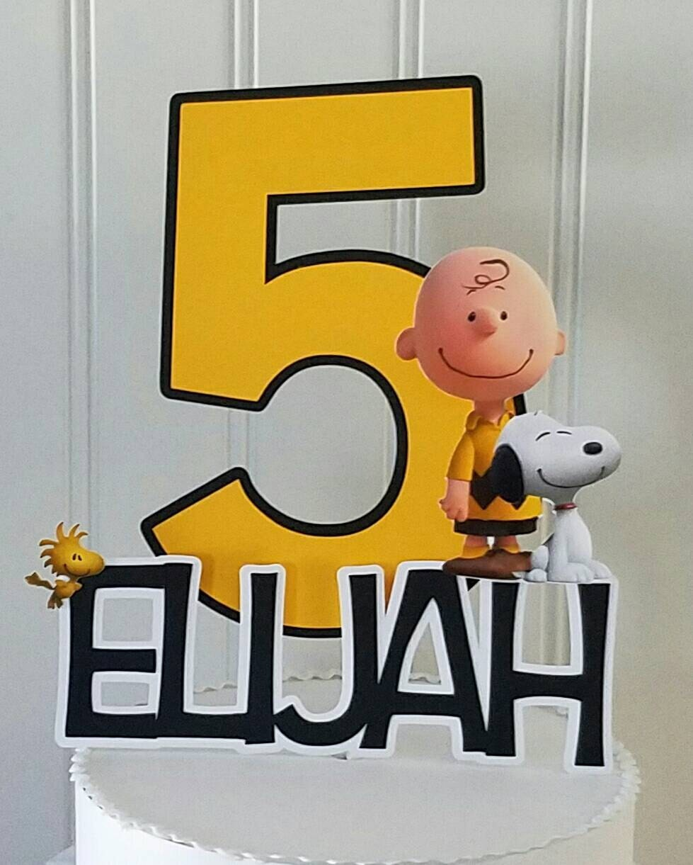 Charlie Brown Cake Topper Peanuts Cake Topper Charlie Brown Etsy