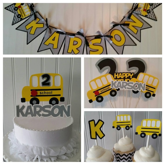 Yellow School Bus Budget Party Packageschool Bus Birthday Etsy