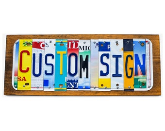 Custom License Plate Signs- Personalized gift- Custom Gifts- Unique Gifts- Retro Home Decor- Last Name Sign