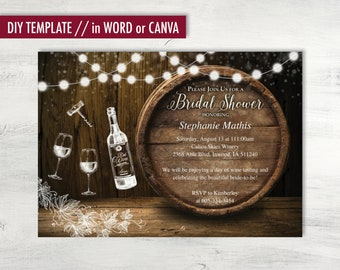 wine invitations etsy