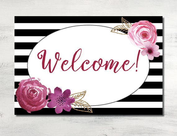 2a698115bac3 Bridal Shower Welcome Sign Shower Welcome Sign Welcome Sign